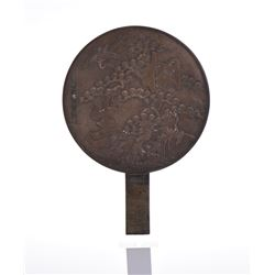 Early 20th Century Bronze Mirror.
