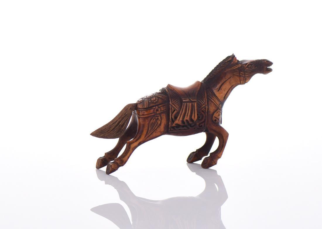 Bone Carved Horse Figurine