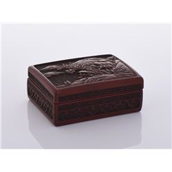 Heavy Red Lacquer Box.