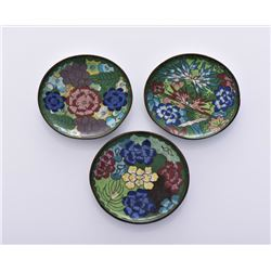 Three Early 20th Century Cloisonne Bronze