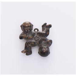 Bronze Pendant Of Twin Children