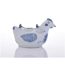 Blue And White Porcelain Chicken Tea Pot
