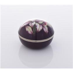Cloisonne Enameled Floral Box.