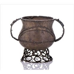 African Ashanti Cast Brass Vessel, Bowl,