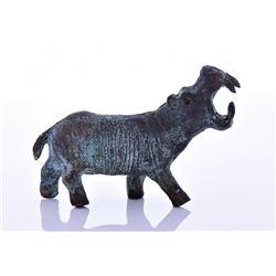 African Benin Bronze Hippopotamus