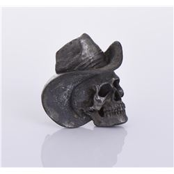 1981 Bergamot Brass Works Skull Cowboy Buckle