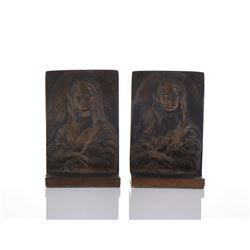 Solid Bronze Mona Lisa Bookends.