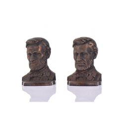Abraham Lincoln Bronze Book Ends