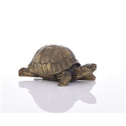 Bronze Turtle Signed Red.