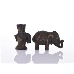 Two Bronze Collectible Figurines.