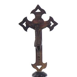 Bronze Cross Depicting The Crucifixion