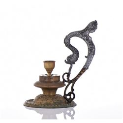 18th Century Oil Lamp Made From Bronze