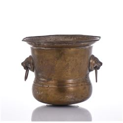 Bronzed Metal Bowl.