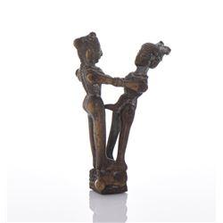 Antique India Erotic Bronze Articulated