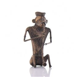 Solid Bronze Hanuman Monkey God Playing