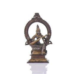 Hindu Shiva Gold Gilt And Cold Painted