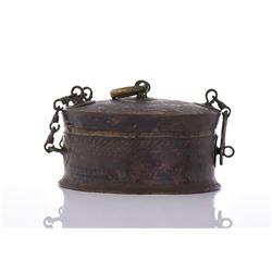 Inscribed Bronze Travelers Case.