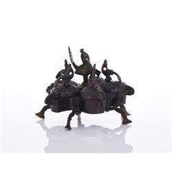 Bronze Pandan Spice Box.