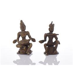 Two Bronze Figurines.