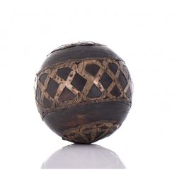 Solid Wood And Brass Accent Bocce Ball.