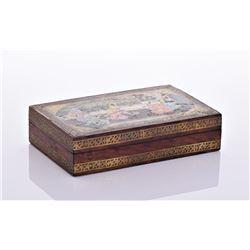 Hand Painted Kashmir Polychrome Wood Box