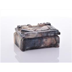 Stone Carved Box.