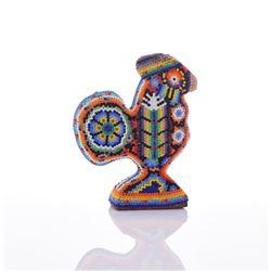 Mexican Huichol Beaded Bird Figure.