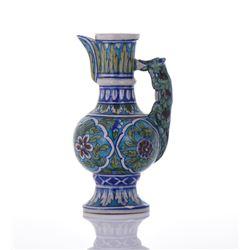 Glazed Ceramic Animal Head Ewer.