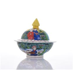 Glazed Ceramic Lidded Dish.