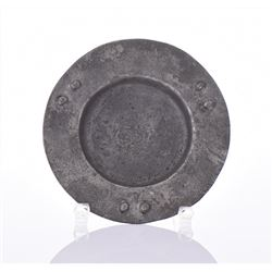 19th Century Pewter Plate.