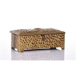 Polished Brass Jewelry Box.
