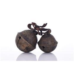 Two Bronze Elephant Bells.