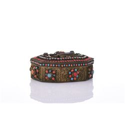 Tibetan Box Decorated And Inlaid