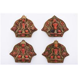 Rare Tibetan Four Piece Belt Buckle