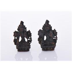 Two 19th Century Bronze Buddhas.