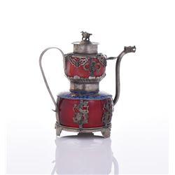 Sino Tibetan Silver Dragon Tea Pot.