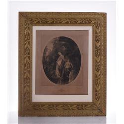 19th Century Engraving. Men Peeking