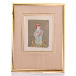 Edna Hibel 1917-2014, Artist Proof Pencil