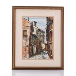 Gustave Wander, An original watercolor,