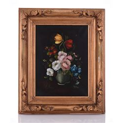 R. Ruggeri Oil Painting on Canvas Floral
