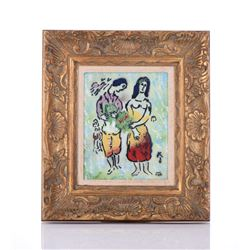 Marc Chagall Enamel On Copper Plate.