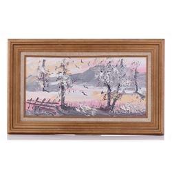 Morris Katz 1932-2010, Original Oil