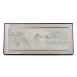 Original Watercolor, Illegible Signature