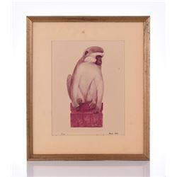 Paul Riba, 1912-1977, Monkey, Numbered 7