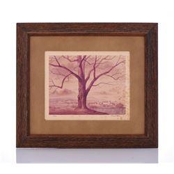Paul Riba, 1912-1977, Tree, Numbered 1