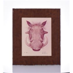 Paul Riba, 1912-1977, Wild Boar,