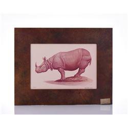 Paul Riba, 1912-1977, Rhinoceros,