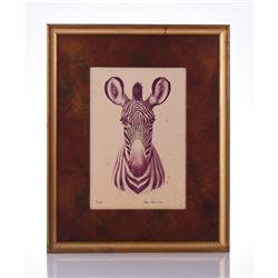 Paul Riba, 1912-1977, Zebra, Numbered 5