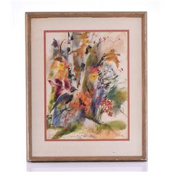 Irene Aunio, 1919. An original watercolor