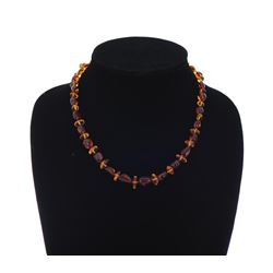 Cherry And Baltic Amber Necklace.